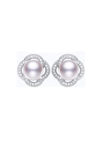 ADORA white Silver Pearl Zircon Earrings 5B7CDACFFCC1B4GS_1
