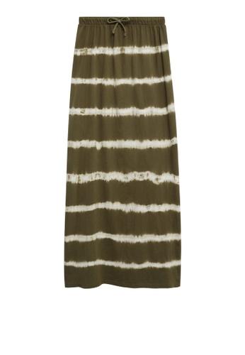 MANGO KIDS green Tie-Dye Cotton Skirt AD057KA091DF4CGS_1