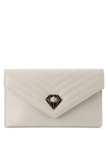 Papillon Clutch grey V Envelope Clutch PA491AC0RO5OMY_1