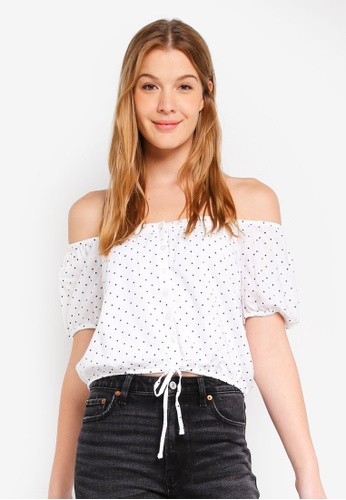 Hollister white Chase Off Shoulder Top CC2B0AA04C4C74GS_1