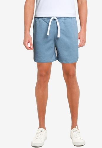 JACK & JONES blue Hexa Sweat Shorts FC174AA219DFEFGS_1