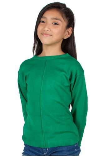 Adkidz green Adkidz Round Neck Sweater 655B0KA238D93AGS_1