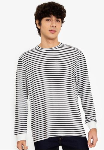ZALORA BASICS multi Striped Long-Sleeve T-Shirt E9A0CAA6216C19GS_1