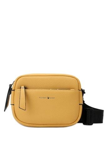 PLAYBOY BUNNY yellow Women's Sling Bag / Shoulder Bag / Crossbody Bag 3ACCFACC56565DGS_1