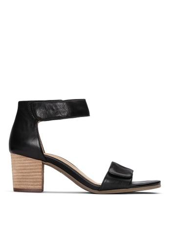 Vionic black Solana Heeled Sandal 293B7SH0335DE8GS_1