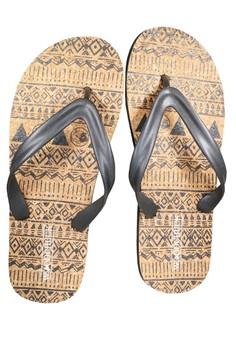 Men's Tribal Cork Flip Flops