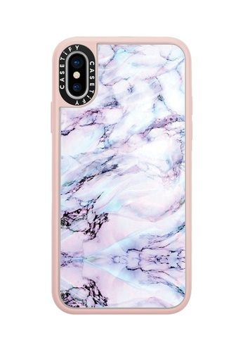 Casetify pink and multi Marble Swirl Classic Grip Case for iPhone XS - Pink B2D79AC37912C3GS_1