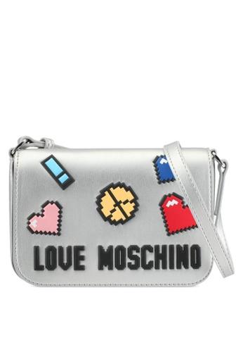 Love Moschino silver Borsa Soft Nappa Sling Bag LO478AC0SEJ7MY_1