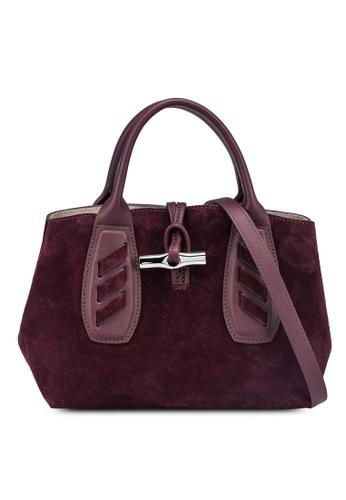 LONGCHAMP purple Roseau Lacet Top Handle Bag (zt) FF887AC67CB75EGS_1
