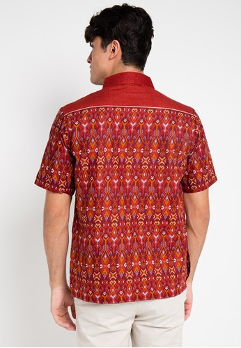 Adikusuma Hem Batik Songket Denim Jual Pakaian Pria