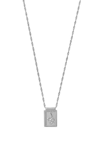 CLUSE silver Force Tropicale Silver Twisted Chain Tag Pedant Necklace A8F3AACE17AE25GS_1
