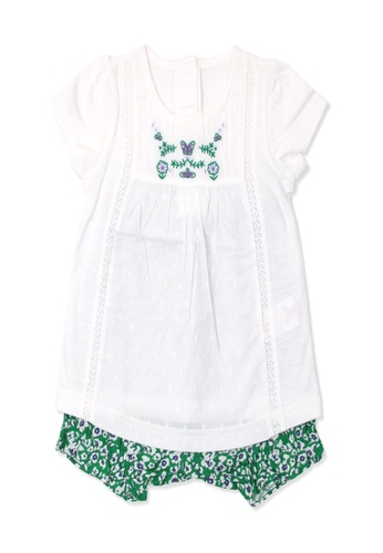 Organic mom white and green Organic Cotton Cathrine floral resort outfit 63CF4KACF5D077GS_1