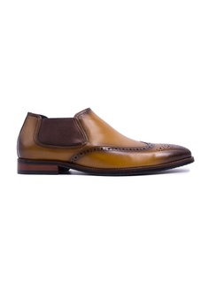 a55e787bd110d2 Rad Russel brown Rad Russel Ankle Boots With WingTip - Tan  B4D14SH213827EGS 1