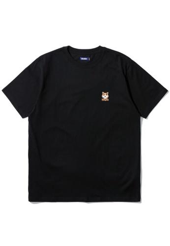 BLOCKAIT black Akita Ken embroidery tee E9646AA1F572F8GS_1