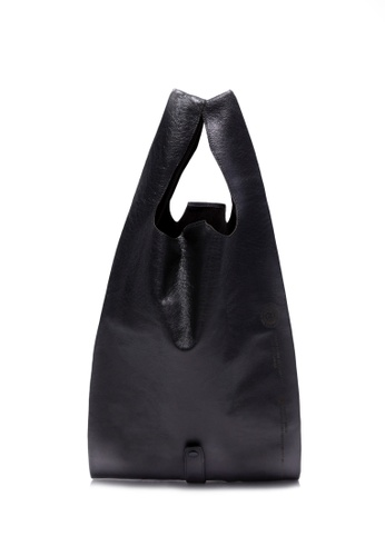 Life8 black Casual Foldable Leather Shopping Bag-06505-Black F6C8BACE1D80DBGS_1