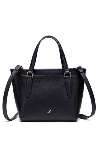 f731f9207d95 ENZODESIGN black Saffiano Leather Top Zip Crossbody Bag 7B001ACD35B2F2GS 1