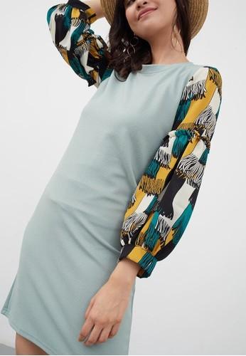 Jual Berrybenka Label Sawari Motive Dress Green Original