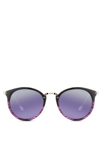 JP0104 條紋圓框太陽esprit 折扣眼鏡, 飾品配件, 飾品配件