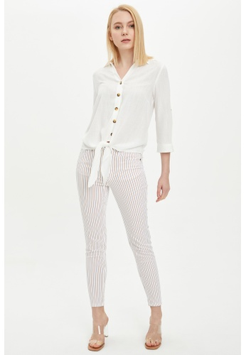 DeFacto white Woman Woven Trouser C8476AAD2115FFGS_1