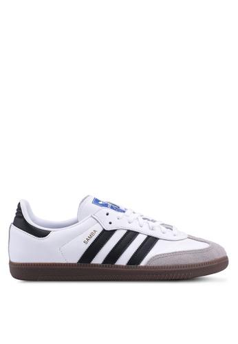 adidas originals samba sneakers in white texture