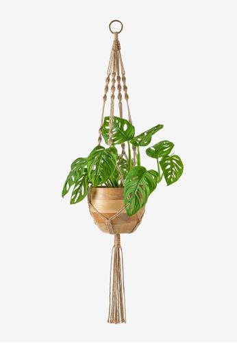 Propstation brown Macrame Rope Tassel Hanging Planter - Nude Brown 8F73FHLF887CD9GS_1
