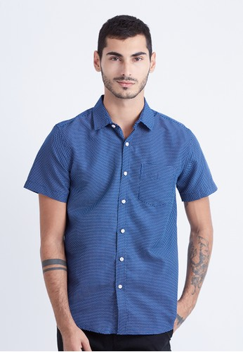 Minarno navy Minarno Navy Dotted 06 S/S Shirt 69C93AAFB44CA5GS_1