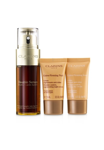 CLARINS CLARINS - Double Serum Extra-Edition Set: Double Serum 50ml + Extra-Firming Day Cream 15ml + Extra-Firming Night Cream 15ml 3pcs 4D622BE843614DGS_1