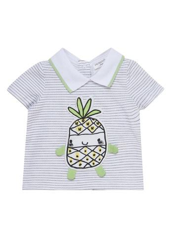 Du Pareil Au Même (DPAM) white Pineapple Polo Shirt 2F204KA2BD752DGS_1