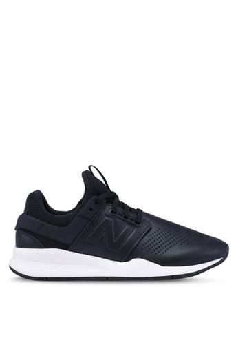 New Balance black 247 Lifestyle Leather Shoes 3939FSH997AEE4GS_1