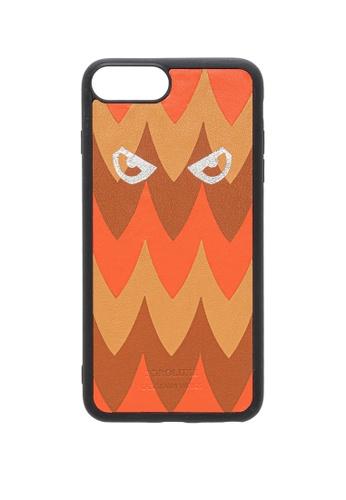 POROLUXE orange PHONE CASE FOR IPHONE 6+/7+/8+ E0FD4AC2666572GS_1