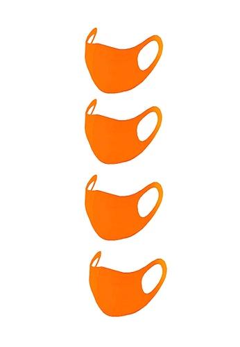 Glamorbit orange Adult Reusable Washable Scuba Mask ( 4 Pieces ) 23EDBES9879C9CGS_1