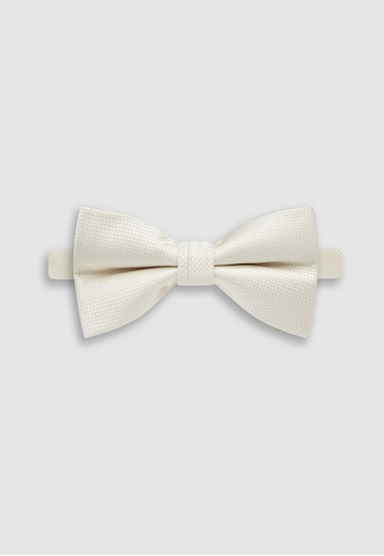 Buckle white Wedding Bow Tie with Pocket Hanky 22573ACCC6FB6DGS_1