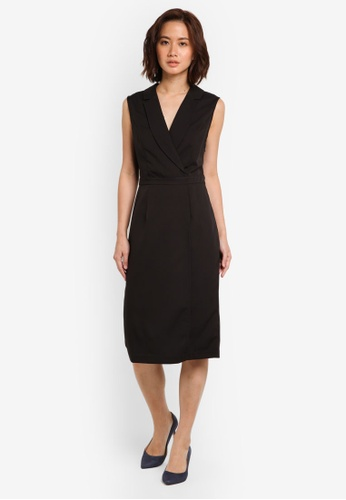 ZALORA black Corporate Overlay Sleeveless Dress FABE9AAA856191GS_1