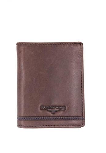 midzone brown Genuine Leather Trifold Wallet MI949AC28BJRMY_1
