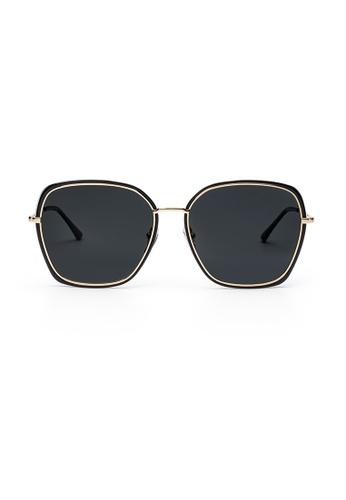 Maverick & Co. grey Maverick & Co. Livi Oversized Sunglasses - Black/Grey 218C7GL45AE281GS_1