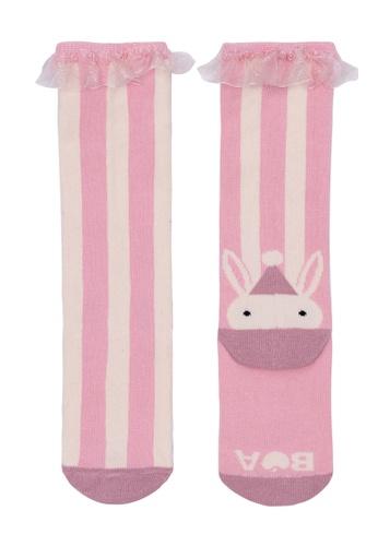 Ribbons+Wheels pink Billy Loves Audrey Carnival Big Top Stripe Socks 22487KA5E0F472GS_1