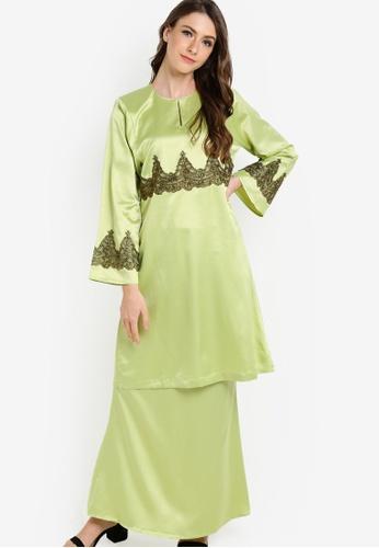 Gene Martino green Baju Kurung Modern GE222AA83HDKMY_1