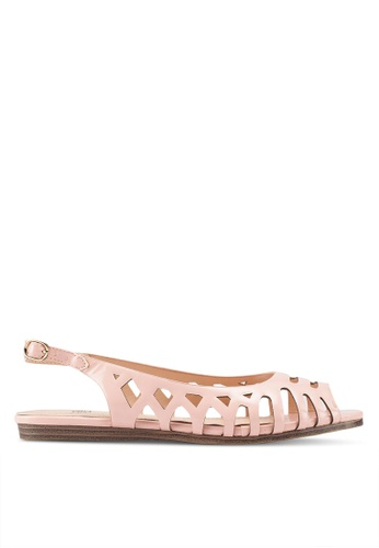 Carlton London 粉紅色 後繞帶平底鞋 44545SH3F65A96GS_1