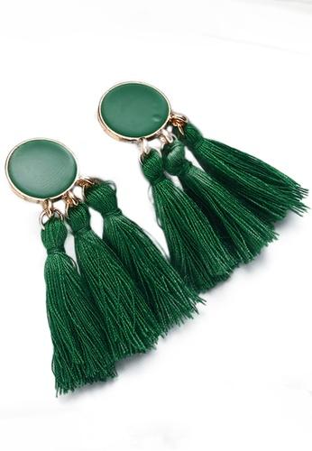 Sunnydaysweety green Tassel Drop Earrings CA030207GR 4AE7AAC111A2AAGS_1
