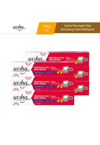 SASHA Sasha Pencegah Gigi Berlubang Tube 150gr Multipack 6pcs 1EC09ESD103526GS_1