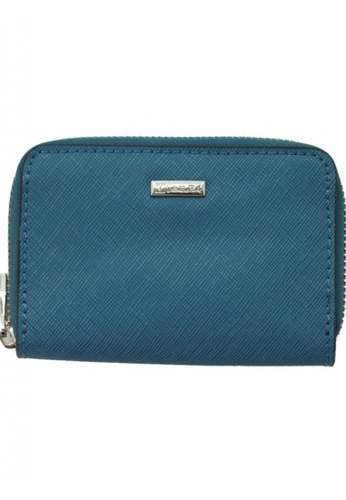 Valentino Rudy blue Valentino Rudy Saffiano Leather Coin & Card Pouch VA677AC79TFSSG_1