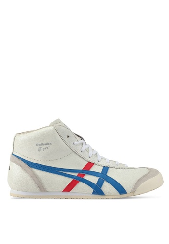 Onitsuka Tiger white and blue Mexico Mid-Runner Shoes ON067SH0SKA6MY_1