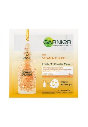 Shop Garnier Fresh Mix Vitamin C Shot Brightening Serum Face Mask Skin Care Online On Zalora Philippines