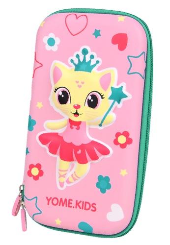 Yome pink YOME Pencil Case Magic Cat 4B044KC8A1CFFAGS_1