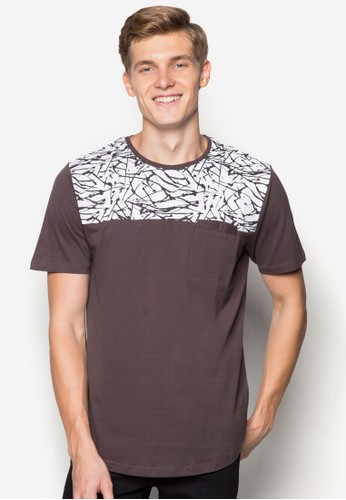 Factorie brown Arc Tail Tee FA113AA42LWNID_1