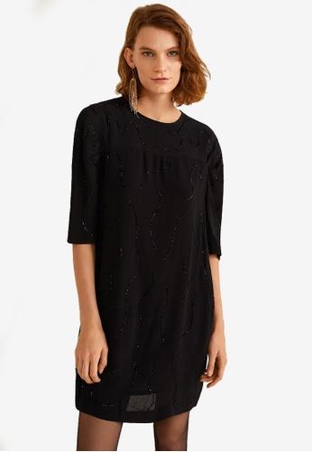 Mango black Beaded Dress 1C496AAE5FF1D1GS_1