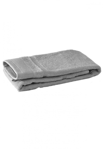 Primeo grey Premium Double Pile Gray Hand Towel 540gsm Soft High Absorbent A4BD7HL4895F73GS_1