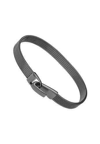 PLAIN SUPPLIES grey Gunmetal Mesh Bracelet 79EDFAC49E63ADGS_1