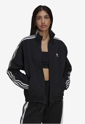 ADIDAS black adicolor classics lock-up track jacket A08C6AAA8B2B4EGS_1