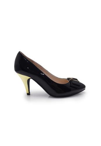 Elisa Litz black Pomerianie Heels (Black) EL365SH28CJVSG_1